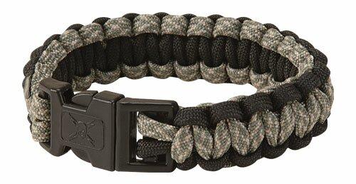 Bransoletka z paracordu United Elite Forces Survival Bracelet Black Camo