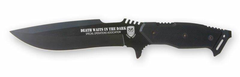 Nóż Death Waits in the Dark Fighting Knife