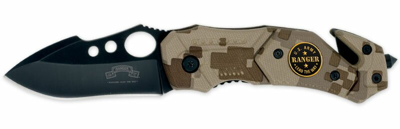 Nóż USARA Rescue Small Camo Assisted-Open Folding Knife